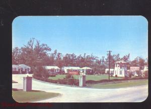 NATCHEZ MISSISSIPPI WINDMILL COURT VINTAGE ADVERTISING POSTCARD MOTEL