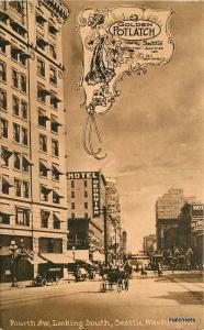 1911 Golden Potlatch 4th Avenue South Seattle Washington Hopf postcard 13254