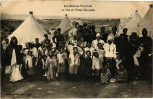 CPA La Fete au Village Senegalais MAROC (825222)