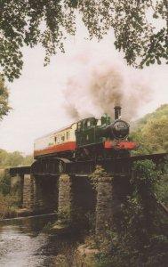 B58 Nursey Pool Bridge 1466 Autocoach W228W Buckfastleigh Train Postcard