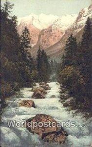 Lotschine Wetterhorn Swizerland 1923