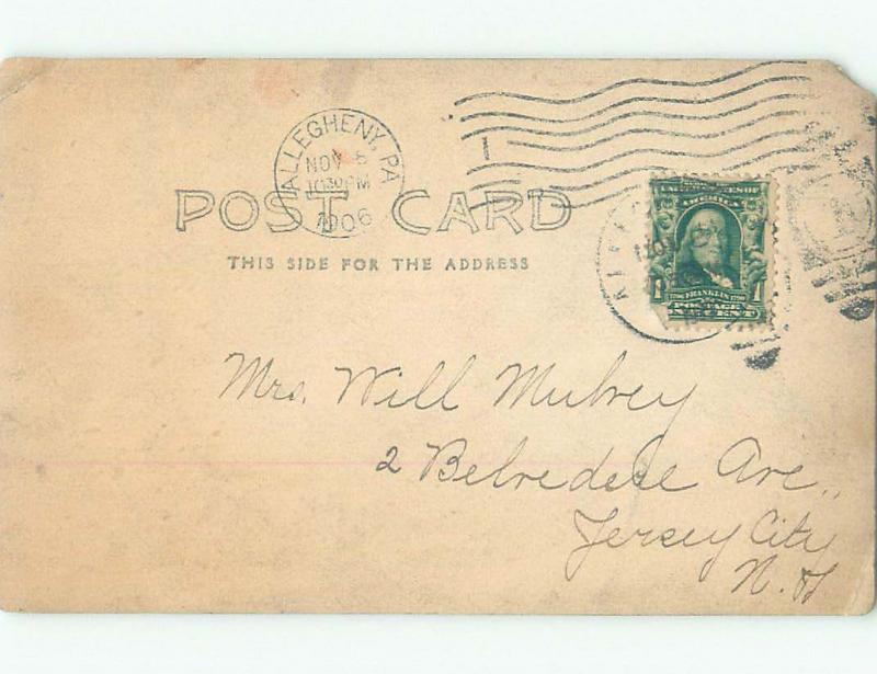 Pre-1920 rppc POSTMARKED ALLEGHENY CITY North Side Of Pittsburgh PA i7930