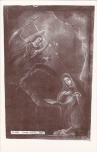 SANTA FE , New Mexico , 1908 : Painting in San Miguel Church
