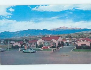 Pre-1980 PANORAMA LODGE MOTEL Colorado Springs Colorado CO J7610