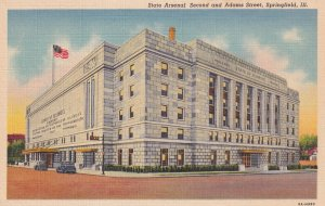 SPRINGFIELD, Illinois, 1930-1940s; State Arsenal Second And Adams Street