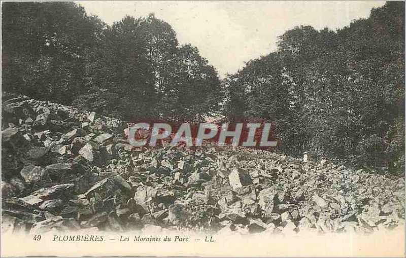 Old Postcard Plombieres - the moraines Park