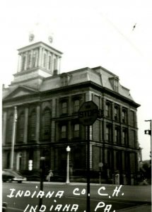 Vtg Postcard RPPC 1940s Indiana County Court House Indiana PA UNP