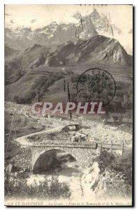 Old Postcard The Dauphine Grave Bridge Romanche and Meije