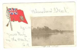 RP: Boat on river view, MITCHELL , Ontario , Canada , PU-1905