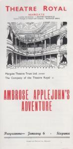 Ambrose Applejohns Adventure Walter Hackett Rare Theatre Royal Margate Programme