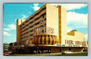 Las Vegas NV- Nevada, The Four Queens, Hotel and Casino, Chrome c1970 Postcard