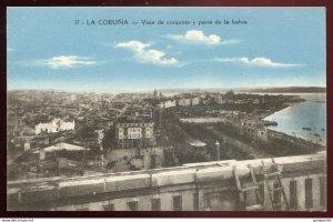 dc1018 - SPAIN La Coruna 1920s Vista de Conjunto y Parte de la Bahia by Hermanos