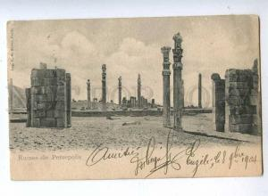 193182 IRAN Persia Persepolis Vintage RPPC to BELGIUM