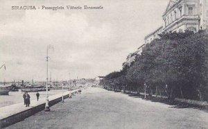 Italy Siracusa Passeggiata Vittorio Emanuele