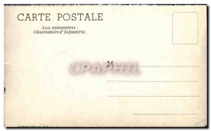 Postcard Modern Army maneuvers To Observatory & # 39infanterie