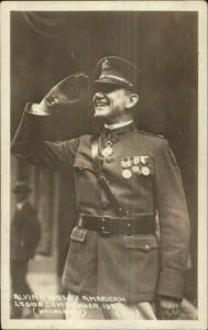 Alvin Owsley American Legion Commander 1923 Real Photo Card Blank Back
