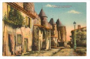 La Cite De Carcassonne, Rue Des Lices-Hautes, Carcassonne (Aude), France, 190...