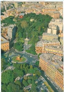 Italy, GENOVA, Piazza Corvetto vista dall'aereo, unused Postcard