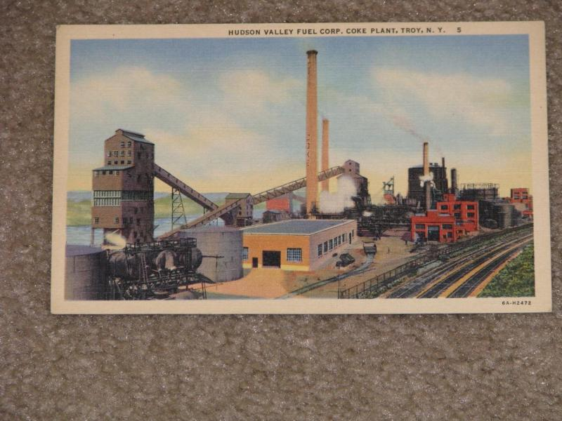 Hudson Valley Fuel Corp. Coke Plant, Troy, N.Y., unused vintage card
