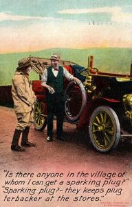 Bamforth No 1053 Men With Old Car 1909