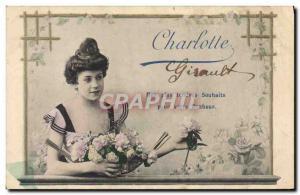 Old Postcard Fancy Surname Charlotte