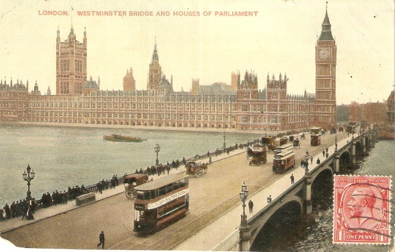London. Westminster Abbey and Houses  of Parliament  Tuck View Ser. PC # 4751