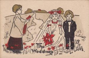 The Wedding, Children Bride and Groom in front of the Preacher, PU-1910