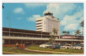 Airport Terminal Cars Honolulu Hawaii 1960s postcard