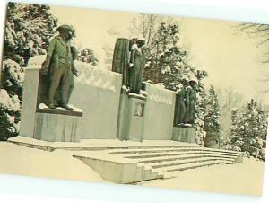 Vintage Post Card Military Park Shilo in Snow Winter Gen Prentiss Tenn  # 4260