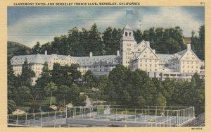 BERKELEY , California, 1930-40s; Claremont Hotel & Berkeley Tennis Club