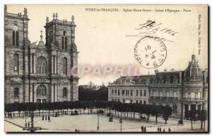 Old Postcard Bank Vitry le Francois Notre Dame Church Caisse d & # 39Epargne ...