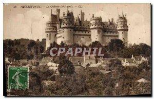 Old Postcard Pierrefonds Chateau north coast