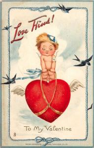 A52/ Valentine's Day Holiday Postcard c1910 Flights to Loveland Tucks Cupid 18