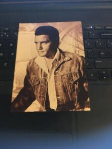 Vintage Postcard - ELVIS Presley , In Denim Jacket