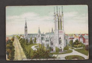 Metropolitan Church & St Michaels Cathedral, Toronto ON - Used 1908 - Cnr & Edge