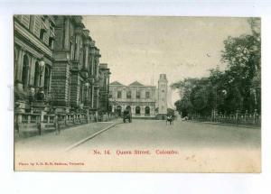 227105 CEYLON COLOMBO Queen Street old Sadoon postcard #14