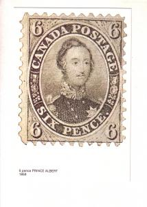 Canadian Prince Albert 6 Pence Stamp 1859