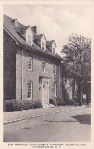 North Carolina Winston Salem East Entrance Alice Clewell Dormitory Salem Coll...