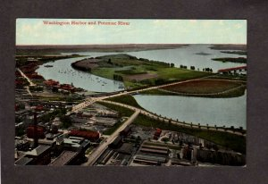 DC Washington DC Harbor Potomac River Vintage Postcard