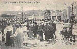 LPS46 Worcester Massachusetts White City Promenade Postcard