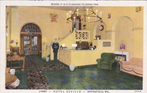Lobby - Hotel Seville - SPRINGFIELD , Missouri , 30-40s
