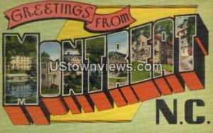 Montreat, North Carolina, NC, Post Card Montreat NC Unused