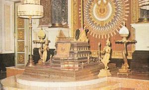 Thailand Gold Niello Chakri Hall Audience Throne Amarindra Temple Craft Postcard