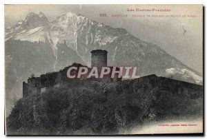 Old Postcard Argeles Chateu of Haugens and range of Viscos