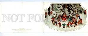 166629 SANTA CLAUS Snow Maiden Skomorokh CARNIVAL old Russian