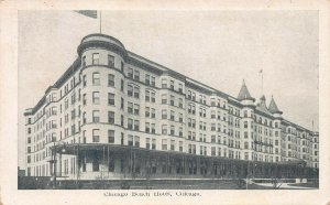 Chicago Beach Hotel, Chicago, Illinois, Early Postcard, Used in 1908