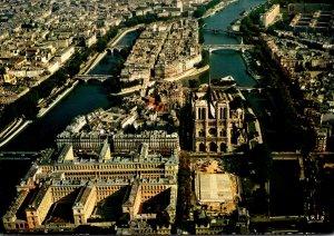 France Paris Notre-Dame Aerial View