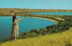 Canada Indian Maiden At Qu'Appelle Valley Saskatchewan