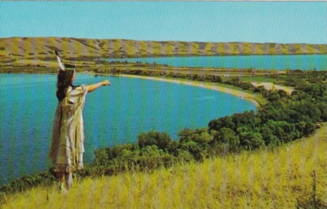 Canada Indian Maiden At Qu'Appelle Valley Saskatchewan