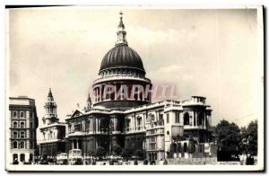 Postcard Old St Paul's Cathedral London